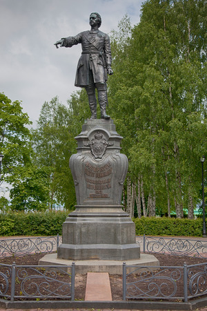 peter the great: City of Petrozavodsk. Republic of Karelia. Monument to Peter the Great.