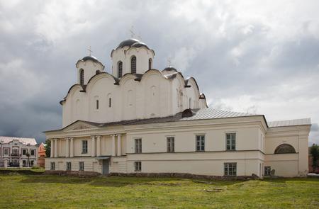 12th century: Veliky Novgorod. Russian Federation. Yaroslavovo dvorishche. St. Nicholas Cathedral of the 12th century.