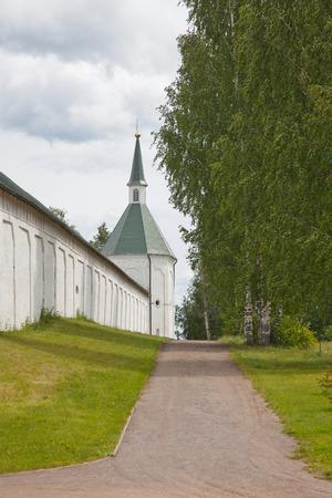 mans: Valdai. Russian Federation. Valdai Iversky Svyatoozersky Bogoroditsky mans monastery. Stock Photo