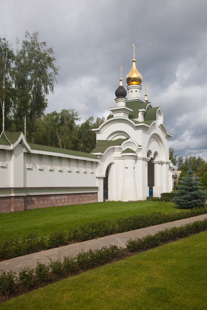Temple of Prince Alexander Nevsky in the village of Knyazhe Lake of the Istra district of the Moscow region