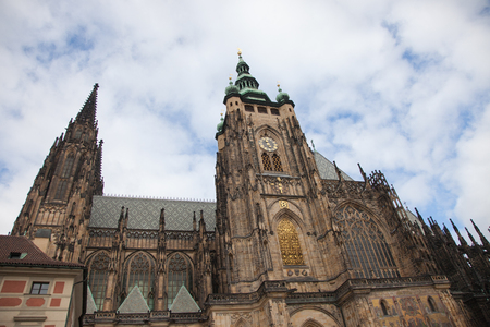 Cathedral of St. Vita with the chapel of St. Wenceslas. Prague, Czech Republic