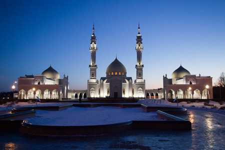 Bolgar, Tatarstan. The White Mosque (Ak Mechet), the Bulgarian State Historical and Architectural Museum-Reserve Stock Photo