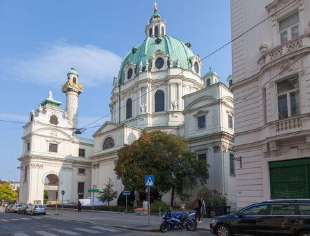 VIENNA, AUSTRIA - OCTOBER 08, 2018: Church Karlskirche