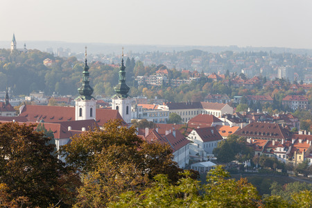 PRAGUE, CZECH REPUBLIC - OCTOBER 09, 2018: From the Petrin Tower. Stock Photo - 120449417