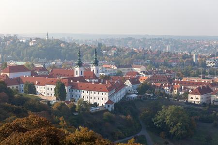 PRAGUE, CZECH REPUBLIC - OCTOBER 09, 2018: From the Petrin Tower.