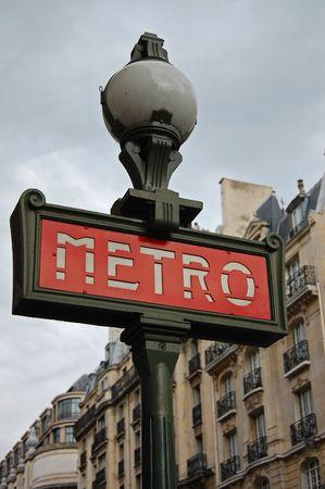 paris street: Paris Metro Sign