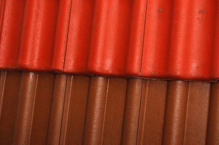 Background from a red and brown part of a roof photo