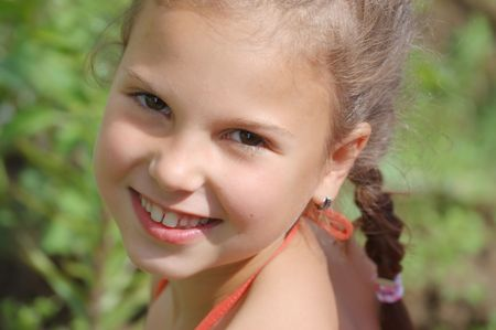 Portrait of the young smiling girl Stock Photo