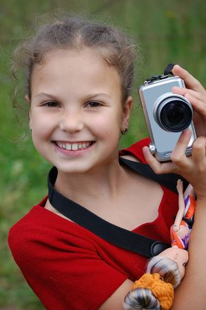 youngs: Portrait of the young girl with the camera