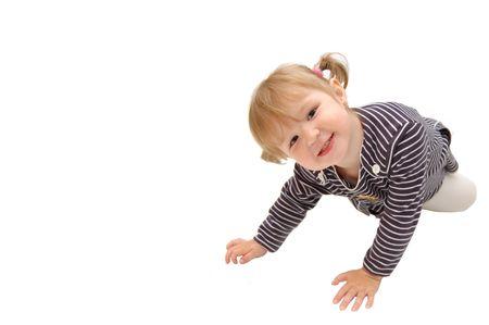 La pequeña niña hermosa espera Foto de archivo - 4976846