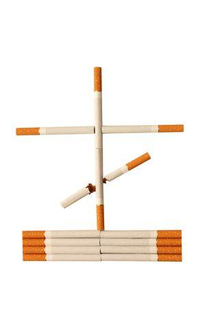 smouldering cigarette: stop smoking concept - danger of cigarettes  Stock Photo