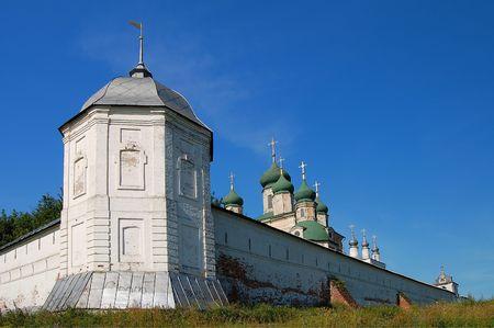 fourteenth: Fourteenth century monastery in Pereslavl, Russia, Yaroslavl region Stock Photo
