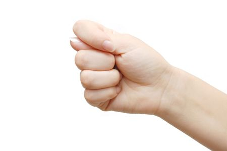 Gesturing hand isolated on white background Stock Photo - 5521152