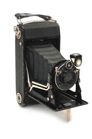 medium format retro camera isolated on white  Stock Photo - 5521547