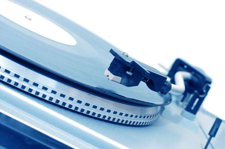 Vinyl player isolated on white background  photo
