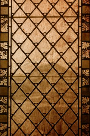 Vintage stained-glass window - old background Stock Photo - 5566856