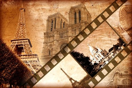 memories about Paris - vintage style photo