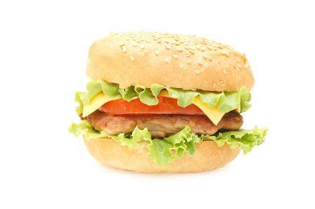 Hamburger isolated on white background   photo
