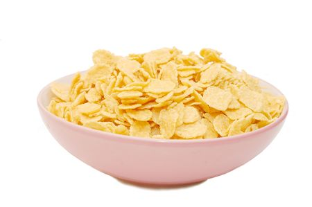corn flakes  In A  Cup With White Background photo
