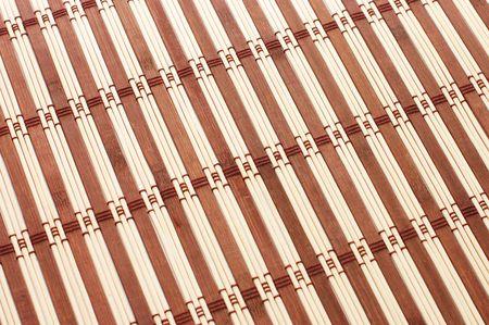 Closeup of bamboo mat background  Stock Photo - 5686259