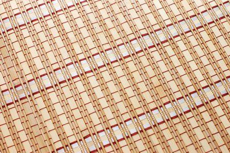 Closeup of bamboo mat background  Stock Photo - 5686442