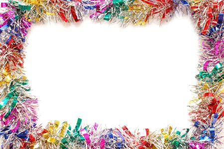 gewgaw: Christmas frame a colour tinsel