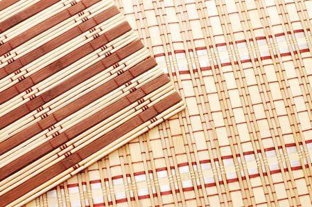 Closeup of bamboo mat background  Stock Photo - 5730545