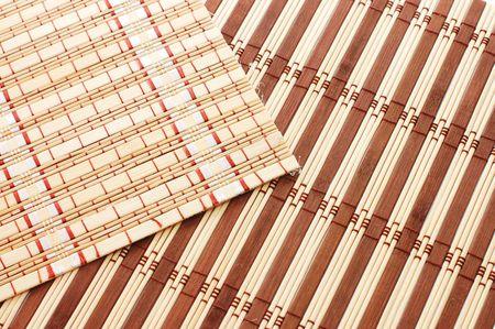 Closeup of bamboo mat background Stock Photo - 5730588