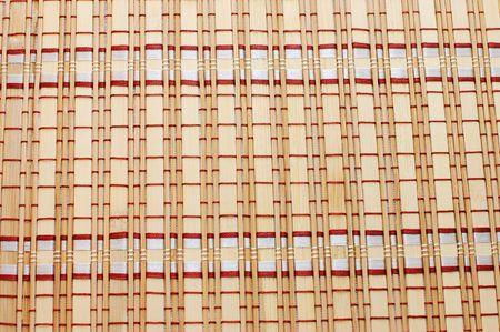 Closeup of bamboo mat background Stock Photo - 5730582