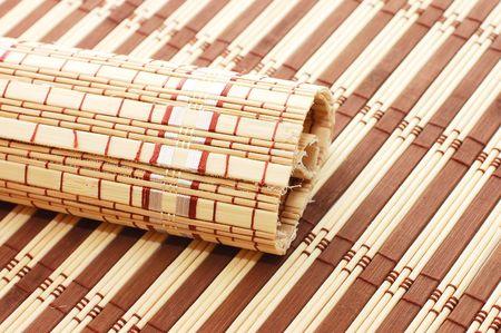 Closeup of bamboo mat background  Stock Photo - 5730523