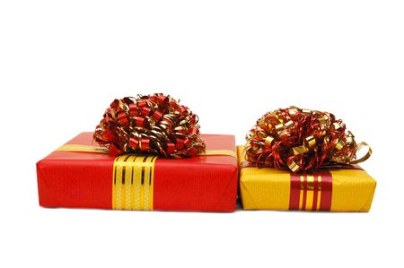 Boxes with gifts isolated on white background Stock Photo - 5960735
