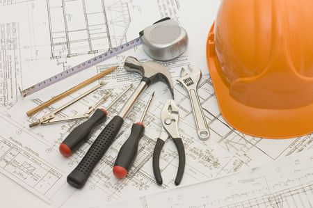 Building tools on the house project photo