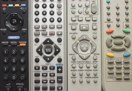 remote controls: Remote controls for close-up Stock Photo