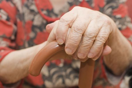 Hands of the old woman Stock Photo - 6249633