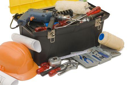 herramientas de mec�nica:  Cuadro con la herramienta aislada en blanco
