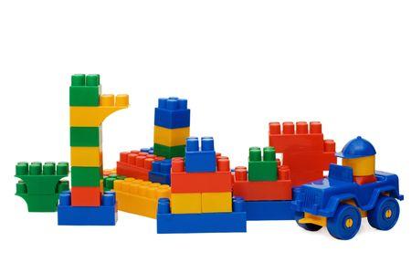 Plastic elements blocks for the designer   photo