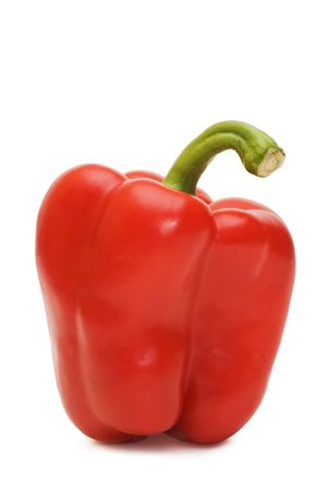Bulgarian pepper isolated on white background   photo