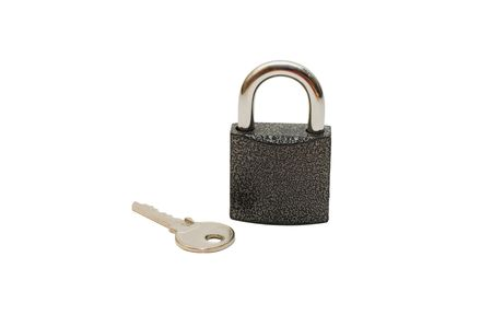 Lock and key isolated on white background Stock Photo - 6433671