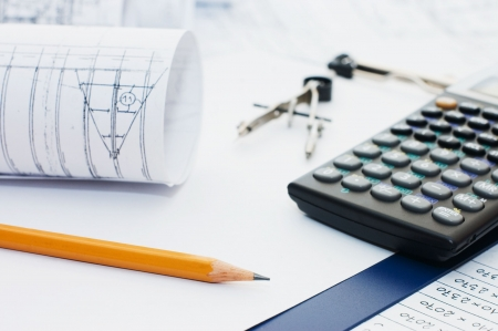 Pencil on clipboard and the calculator Stock Photo - 6629465
