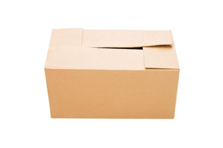 The closed cardboard box isolated on white Stock Photo - 6722766