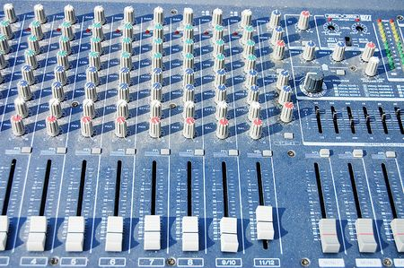 old dusty mixer panel photo