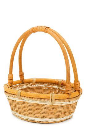 Wattled basket isolated on white background   photo