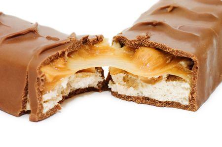 Chocolate bar isolated on white background Stock Photo - 6818113