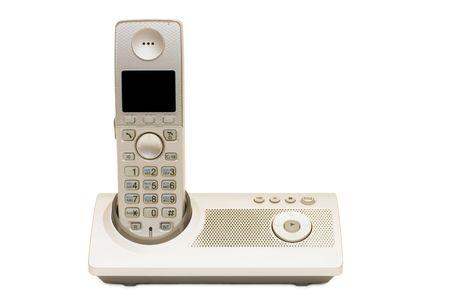 telephone set isolated on a white background  photo