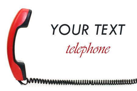 retro telephone: Retro telephone receiver  isolated on white background