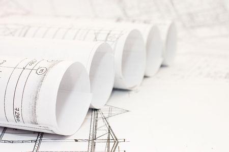 Rolls of Engineering Drawings photo
