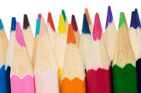 color�: Crayons de couleur isol�s sur fond blanc