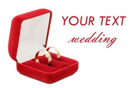 wedding ring on white background Stock Photo - 6913020