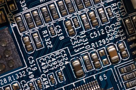 detail of computer circuit board photo