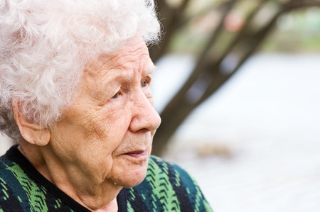 Portrait of the old woman Stock Photo - 6991023